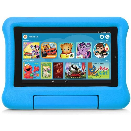 Amazon Kid-Proof Case for Fire 7 Tablet (Compatible with 9th Generation Tablet, 2019 Release) - Blue