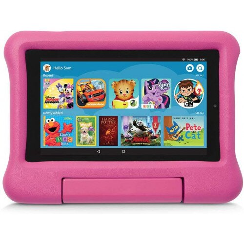 Amazon Kid-Proof Case for Fire 7 Tablet (Compatible with 9th Generation Tablet, 2019 Release) - Pink