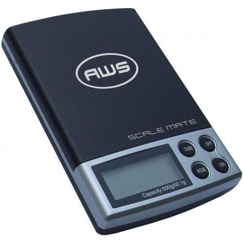 American Weigh SM-5DR Dual Range Pocket Scale 100x0.01g/500x0.1 - Black