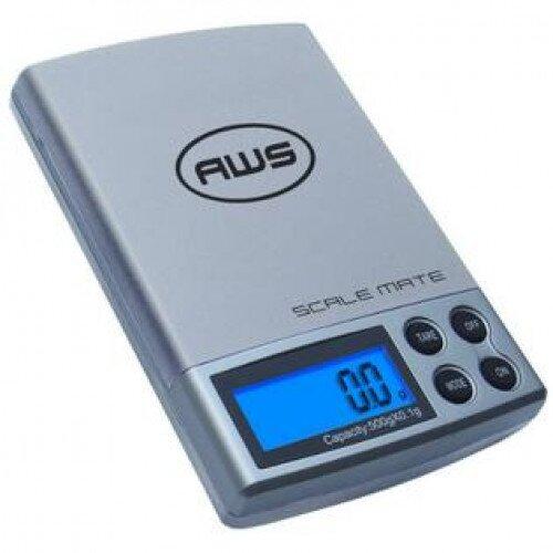 American Weigh SM-5DR Dual Range Pocket Scale 100x0.01g/500x0.1 - Silver