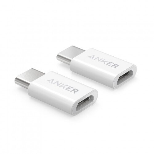 Anker USB-C (Male) to Micro USB (Female) Adapter - 2-Pack - White
