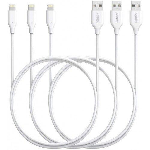 Anker 3-Pack PowerLine 3ft Lightning USB Cable