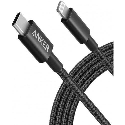 Anker Nylon USB-C to Lightning Cable - 6ft - Black