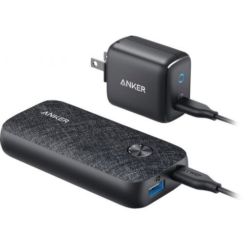 Anker PowerCore Metro Power Bank With 10000 PD Bundle Wall Charger