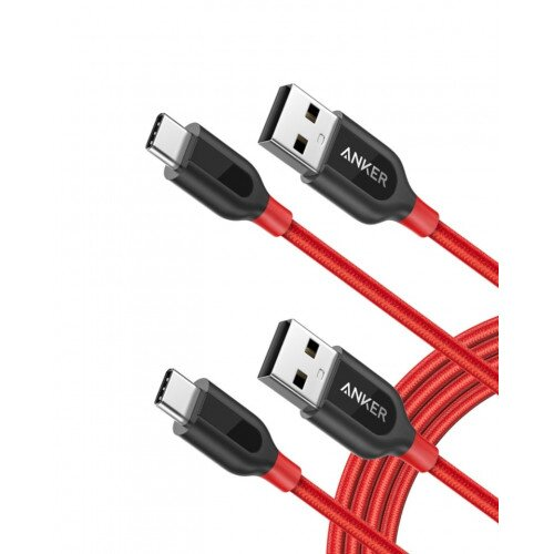 Anker PowerLine+ 6ft USB-C to USB 2.0 Cable - Red
