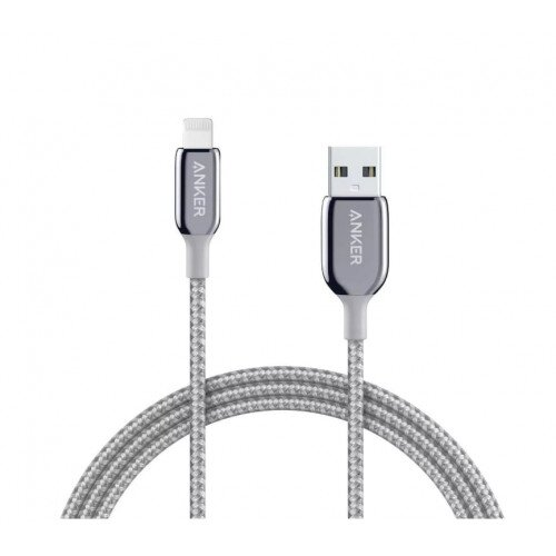 Anker PowerLine + III Lightning Cable - 10ft - Silver