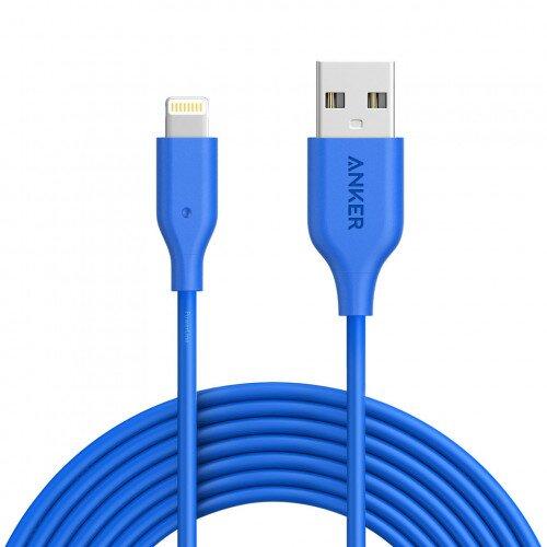 Anker PowerLine Lightning Cable - 10ft - Blue