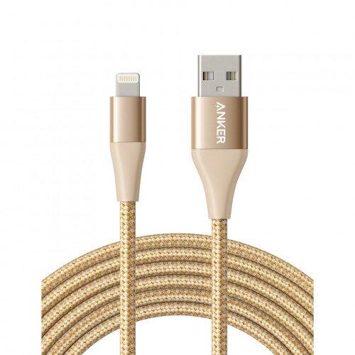 Anker PowerLine+ Ultra-Durable Lightning Cable - 10ft - Golden