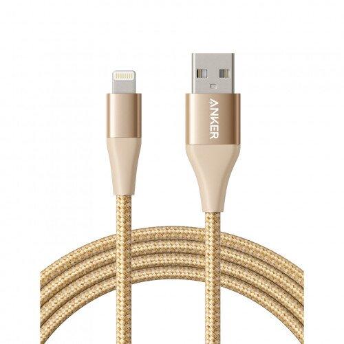Anker PowerLine+ Ultra-Durable Lightning Cable - 6ft - Golden