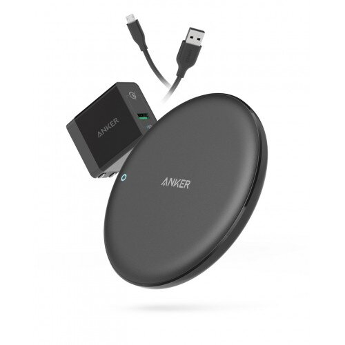 Anker PowerWave 7.5 Fast Wireless Charging Pad with Internal Cooling Fan - Black