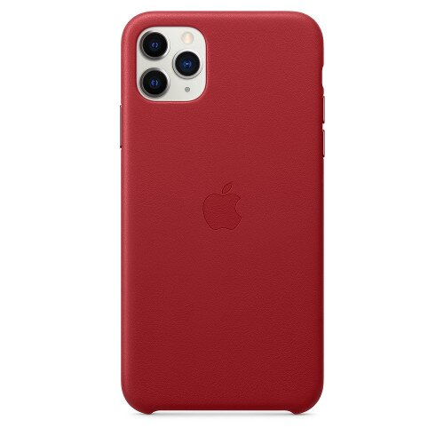Apple iPhone 11 Pro Max Leather Case - Product Red