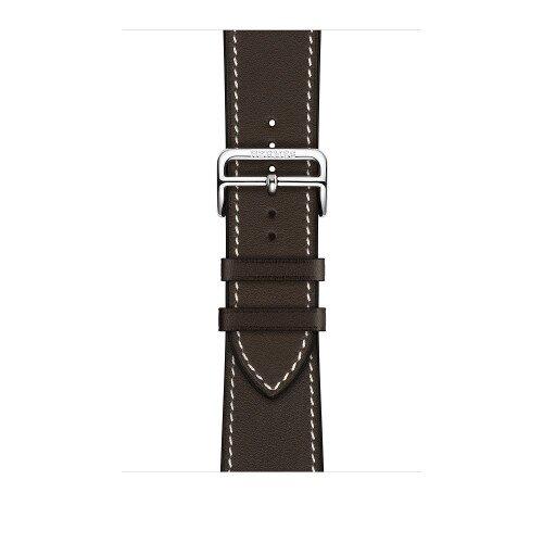 Apple Watch Hermes 44mm Ebene Leather Single Tour Deployment Buckle