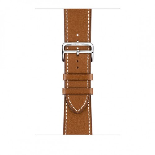 Apple Watch Hermes 44mm Ebene Leather Single Tour Deployment Buckle - Fauve