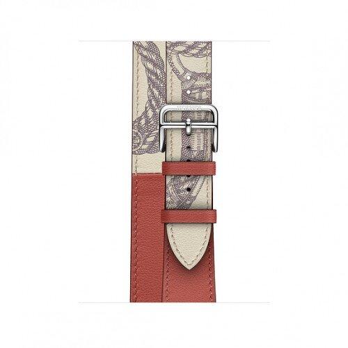 Apple Watch Hermes 40mm Swift Leather Double Tour - Brique/Beton