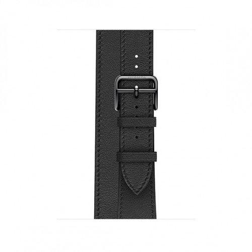 Apple Watch Hermes 40mm Swift Leather Double Tour - Noir