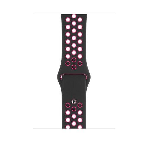 Apple Watch Nike Sport Band - 44mm - Black/Pink Blast