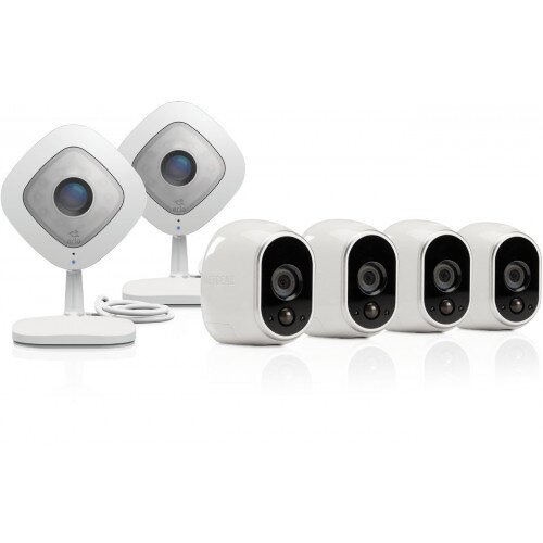 Netgear Arlo Smart Security System with 4 Arlo and 2 Arlo Q Cameras