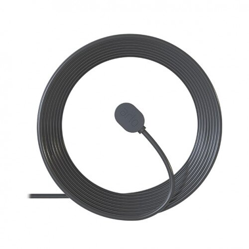 Arlo Ultra & Pro 3 25 ft. Outdoor Magnetic Charging Cable - Black