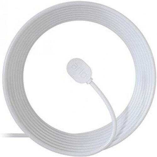 Arlo Ultra & Pro 3 25 ft. Outdoor Magnetic Charging Cable - White