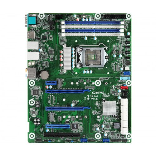 ASRock Rack C246 WS Motherboard