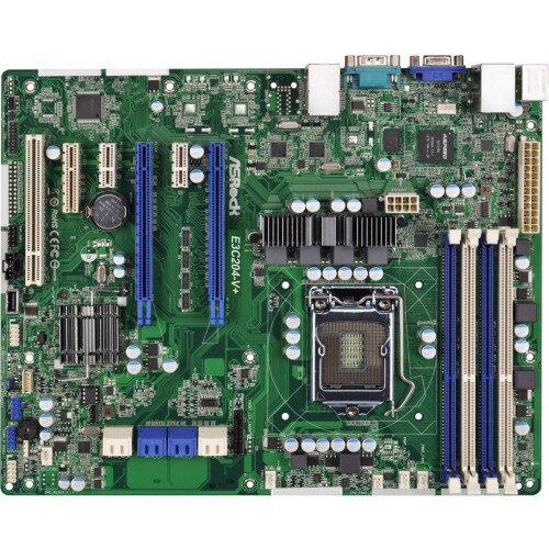ASRock Rack E3C204-V+ Motherboard
