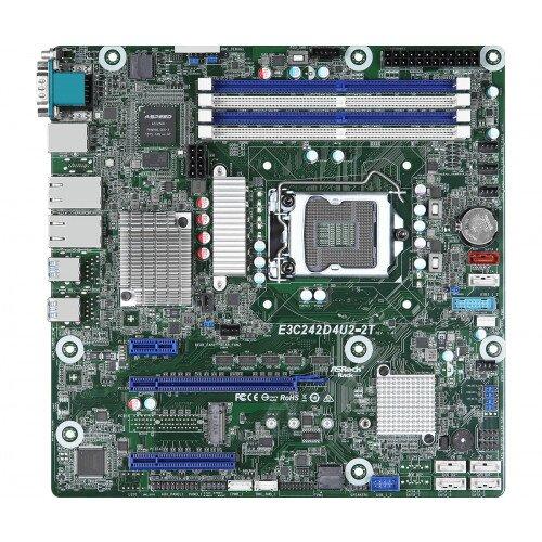 ASRock Rack E3C242D4U2-2T Motherboard
