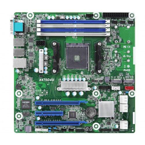 ASRock Rack X470D4U Motherboard