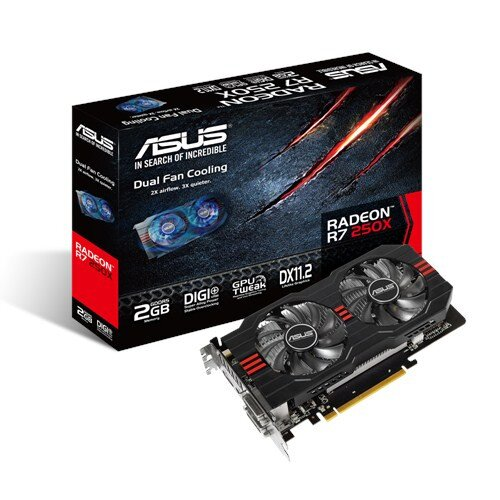 ASUS Radeon R7 250X Graphics Card - 2GB GDDR5