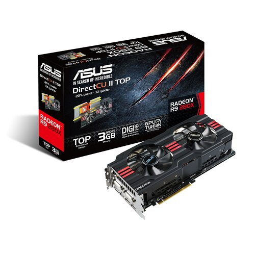 ASUS Radeon R9 280X DirectCU II 3GB GDDR5 Graphics Card
