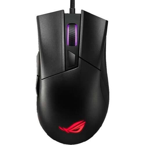 ASUS ROG Gladius II Core Lightweight Ergonomic Wired Optical Gaming Mouse