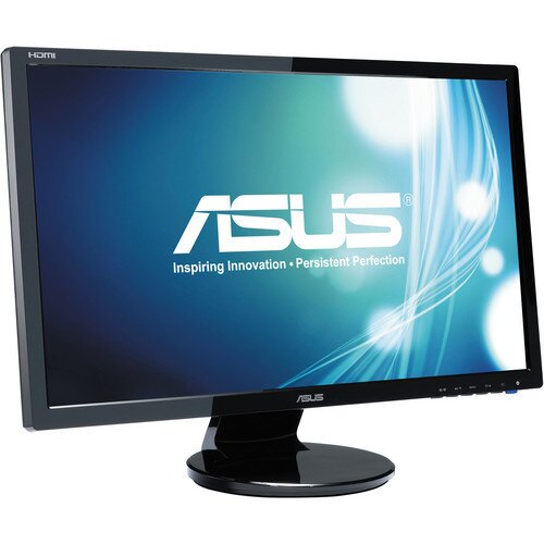 """ASUS VE247H Monitor, 23.6"""" FHD, 2ms, HDMI, DVI-D, D-Sub, Speakers"""