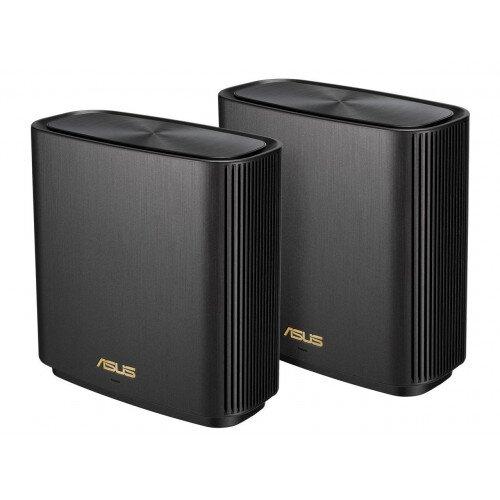 ASUS XT8 ZenWiFi AX6600 Wireless Tri-Band Mesh Wi-Fi 6 System - Black - 2-Pack
