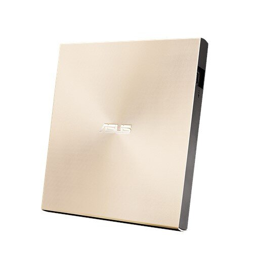ASUS ZenDrive Slim External DVD Burner Optical Disc 8x Speed Re-Writer Drive - Gold