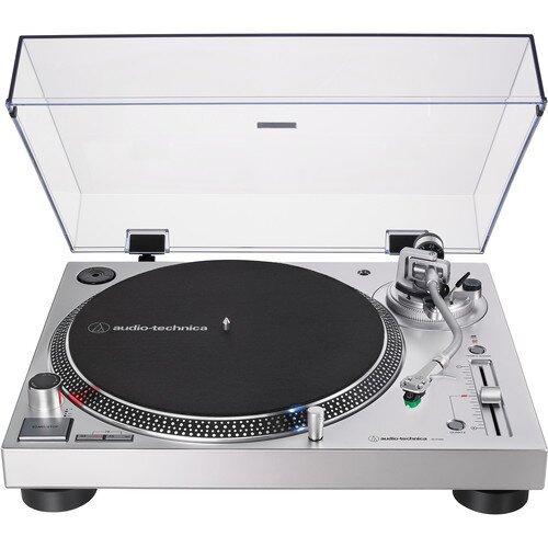 Audio-Technica AT-LP120XUSB Direct-Drive Turntable (Analog & USB) - Silver
