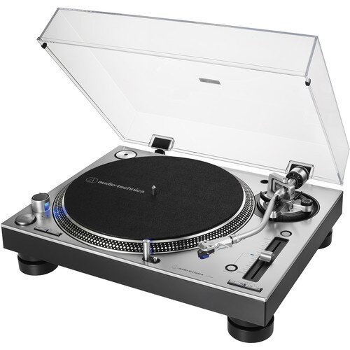 Audio-Technica AT-LP140XP Direct-Drive Professional DJ Turntable - Silver