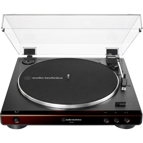 Audio-Technica AT-LP60X Fully Automatic Belt-Drive Turntable - Brown/Black