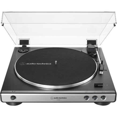 Audio-Technica AT-LP60X Fully Automatic Belt-Drive Turntable - Gunmetal/Black