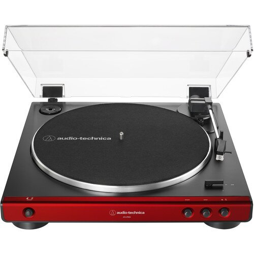 Audio-Technica AT-LP60X Fully Automatic Belt-Drive Turntable - Red/Black