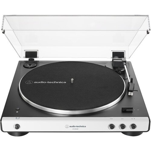 Audio-Technica AT-LP60XBT Fully Automatic Wireless Belt-Drive Turntable - White/Black