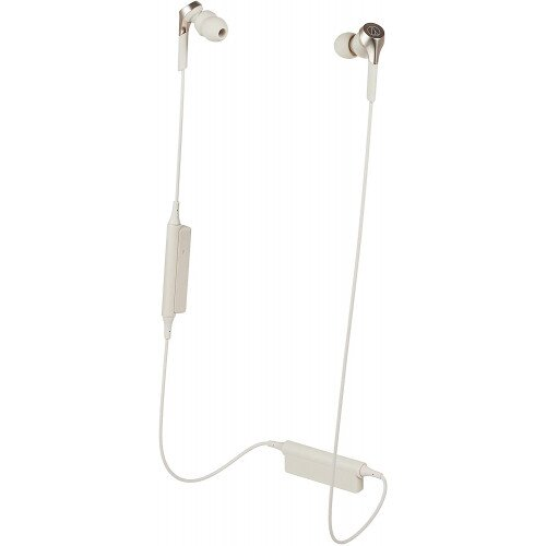 Audio-Technica ATH-CKS550XBT Solid Bass Wireless In-Ear Headphones - Champagne Gold