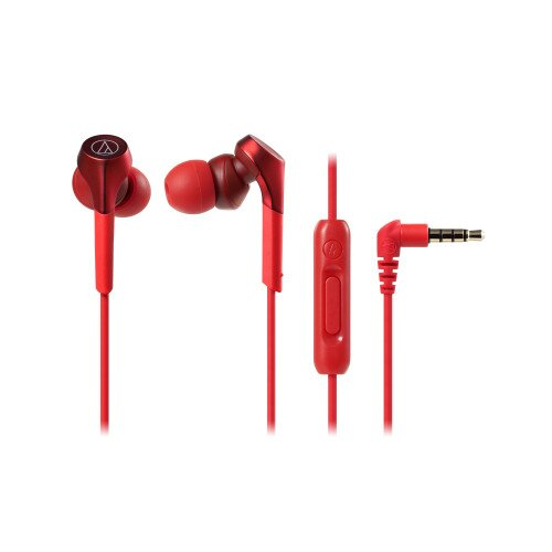 Audio-Technica ATH-CKS550XiS Solid Bass In-Ear Headphones - Red