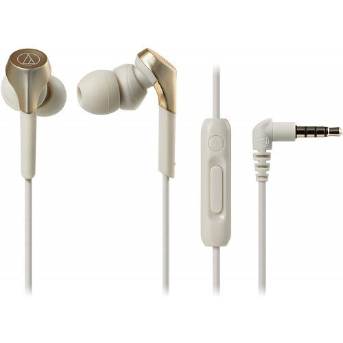 Audio-Technica ATH-CKS550XiS Solid Bass In-Ear Headphones - Champagne Gold