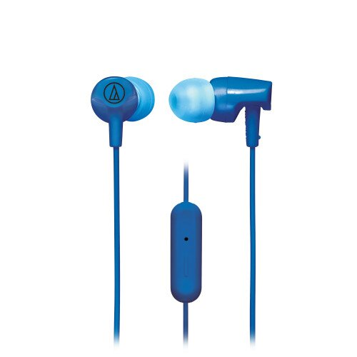 Audio-Technica ATH-CLR100iS SonicFuel In-Ear Headphones with In-line Mic & Control - Blue