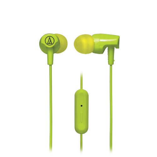 Audio-Technica ATH-CLR100iS SonicFuel In-Ear Headphones with In-line Mic & Control - Lime Green