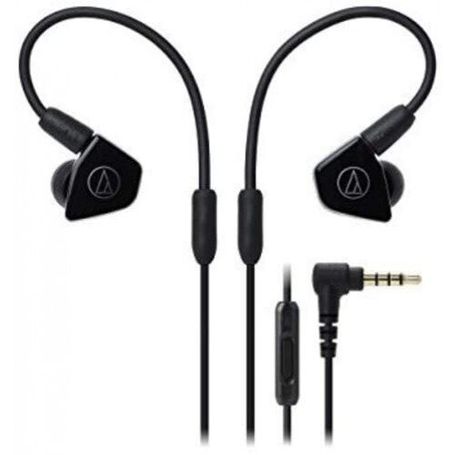 Audio-Technica ATH-LS50iS In-Ear Headphones with In-line Mic & Control - Black