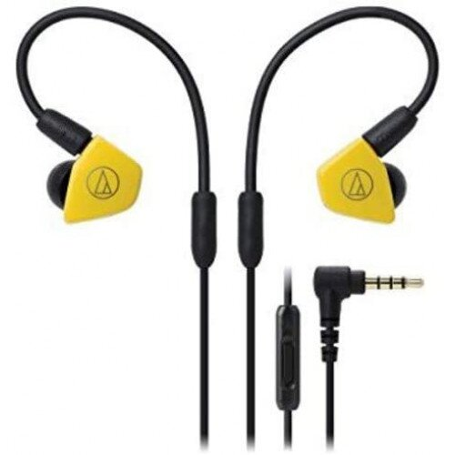 Audio-Technica ATH-LS50iS In-Ear Headphones with In-line Mic & Control - Yellow