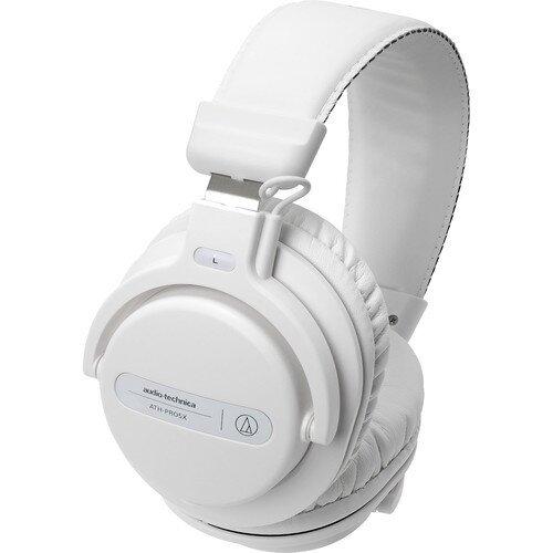 Audio-Technica ATH-PRO5X Professional Over-Ear DJ Monitor Headphones - White