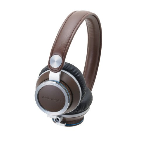 Audio-Technica ATH-RE700 High-Fidelity Audiophile On-Ear Headphones - Brown