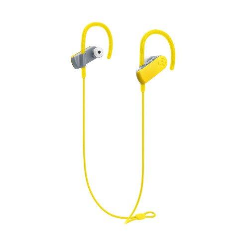 Audio-Technica ATH-SPORT50BT SonicSport Wireless In-Ear Headphones - Yellow