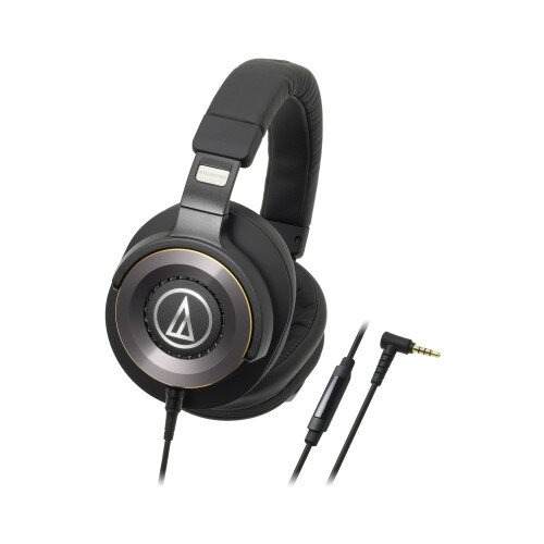 Audio-Technica ATH-WS1100iS Solid Bass Over-Ear Headphones with In-line Mic & Control